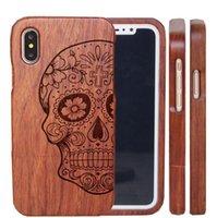 Casos de telefone celular de madeira Genuine natural real madeira tampa traseira dura para iphone 7 8 plus xr xs 11 12 13 pro máximo