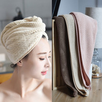 Magic Microfiber Hair Fast Drying Dryer Towel Bath Wrap Hat ...