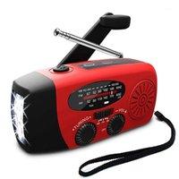 Radio 5 in 1 Emergenza 1000mAh Power Solar Power Bank Crank Caricabatterie del telefono automatico FM / AM con 3 LED1