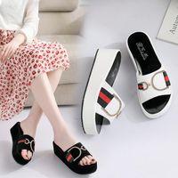 플랫폼 샌들 여성 브랜드 디자이너 여름 신발 여성 파티 샌들 숙녀 웨지 편안한 크기 35-40