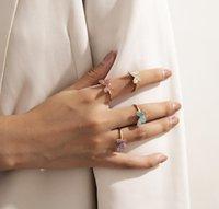 Красивое подъемное кольцо рождения камень красное золото бабочка кольцо леди золото алмаз Сваровский элемент Crystal Lady Gemstone кольцо