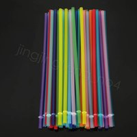 24cm PP plastic straws colorful reusable drink juice bar home party cup decor drinking straw CYF4479-4