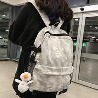 College Simple Waterproof Nylon Women Backpack Fashion Girl ...