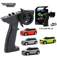 Turbo 1:76 RC Mini Полная пропорциональная электрическая гонка RTR Kit 2.4 ГГц гоночный опыт Детские игрушки Новый патентный автомобиль 201201