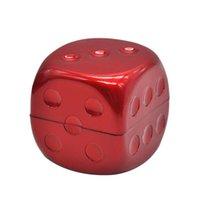 주사위 모양 연기 연기 연마 치아 플라스틱 흡연 밀 그라인더 분쇄기 휴대용 인기있는 6 1YH UU