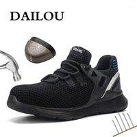 Zapatos de seguridad de los hombres de Dailou con botas de trabajo de zapatos indestructibles con punta de acero zapatillas de deporte transpirables impermeables zapatos de trabajo1