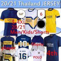 2020 2021 Boca Juniors 축구 유니폼 4 홈 멀리 Gago Osvaldo Carlitos Perez de Rossi Tevez 팬 플레이어 3 번째 반바지 Polo Polo Thailand