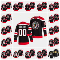 88 Patrick Kane Chicago Blackhawks 2021 Reverse Retro Jersey Jonathan Toews Duncan Keith Connor Murphy Andrew Shaw Alex Debrincat Janmark