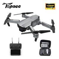 Topacc T58 WiFi FPV 106.7g Brazo plegable Drone RC Quadcopter Mini gran angular Profesional HD 1080p cámara Hight Hold Mode RTF DRON 201125