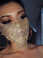Mascarilla de rhinestone de moda de Rhinestone Jewlery para mujeres Cara Cuerpo Joyería Noche Club Decorativo Joyería Máscara de fiesta envío gratis