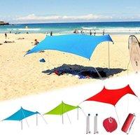 Spiaggia ombrellone leggero tenda da sole portatile tenda con sandbag uv lycra grande baldacchino familiare per pesca all'aperto campeggio1