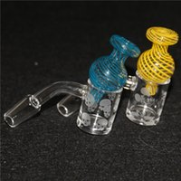 Fumar quartzo banger prego com girando carboidrato masculino feminino 10mm 14mm 18mm para bongos de vidro
