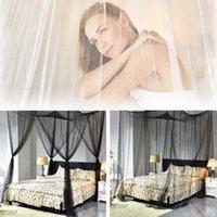 4 Corner Post Bed Bed Baloppia Zanzariera Elegante Regina King Size Reticolato Biancheria da letto nera Biancheria da letto Home Decor Rectangle Biancheria da letto Accessori1