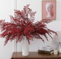 محاكاة النبات الأخضر السرو ورقة زفاف قاعة الديكور محاكاة النباتات بوعاء السرخس ورقة. مشهد الزفاف