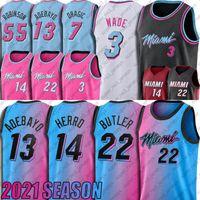 Jimmy Tyler Butler Herro Jersey Dwyane Dwayne Wade Jerseys Goran Bam Dragic Adebayo Basketball Jersey Kendrick Robinson Nunn Jerseys
