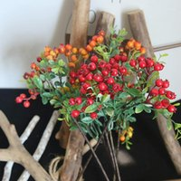 Artificial Berry Plant Flower Single Branch Foam Flower Deco...