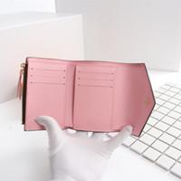 Kadınların çok renkli kısa cüzdan kart sahibi kadınlar için deri cüzdan klasik fermuar cebi Toptan M41938 cüzdanlar orijinal kutu LB113 çanta