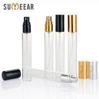 100 peças / lote 15ml Frascos cosméticos vazios mini garrafa de perfume portátil atomizador de garrafas de alumínio para viagem