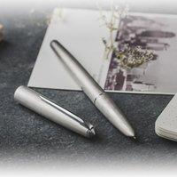 New Held 100 14k Gold Matt Silber Stahl Füllfederhalter mit Konverter Klassiker Authentische Qualität Hervorragendes Schreiben Geschenkstift Set T200115