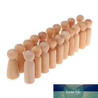 20шт незаконченные деревянные куклы деревянные крошечные кукольные тела люди украшения