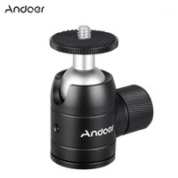 Andoer Alüminyum Alaşımlı Mini Ballhead Topu Kafa 360 Panoramik Kafa DSLR ILDC Kamera Tripod Monopod Için 1/4 inç Vida Dağı ile