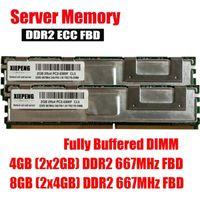 Memoria server RAMS da 4 GB (2x 2 GB) DDR2 ECC FBD 8GB 667MHZ FB-DIMM 2RX4 PC2-5300F Dimm completamente tamponata 240pin 5300 RAM