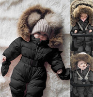 Veste d'hiver Vêtements d'extérieur Bébé Baby Girl Girl Vêtements Veste Rompe Jumpsuit à capuche Chaud Epais Manted Outfit