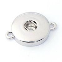 الجملة-10 قطعة / الوحدة قابلة للتبديل diy مجوهرات 18 ملليمتر الزنجبيل يستقر مجوهرات المعادن المفاجئة زر أساور قلادة ZJ14651