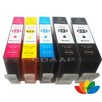 5 Compatible ink cartridge for 655 655 655XL with chip for D...