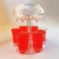 6 Shot-Becher-Spender mit 6 Acrylbecher Hängenden Halter-Ständer-Rack-Acryl-transparente Cocktail-Party Get Wine Dispense 35 K2
