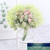 6 قطع البسيطة النباتات النضرة الاصطناعي diy اليدوية فو الزهور عيد الميلاد الديكور العشب سكرابوكينغ الزهور وهمية إكليل رخيصة