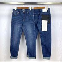 Nuevo parches brújula hombres jeans letras delgadas bordado de moda recta moda pantalones de mezclilla ciclista hommes cremallera mosca pantalón