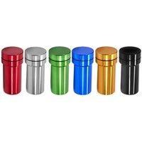 Alüminyum bitki değirmeni ile depolama konteyner şişesi 2 1 İşlevli metal taşlama sistemi hava geçirmez su geçirmez stash jar DHL ücretsiz
