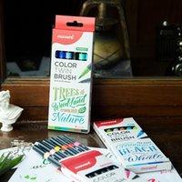 6 Adet Monami Renk İkiz Fırça Kalemler Çiçek Orman Deniz Seti, Ev DIY Çizim Boya Doodle Okul Sanat Malzemeleri için DIY Marker A6554 201120