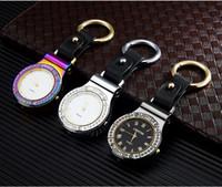 Mult-funzione 4 in 1 orologio accendisigari USB ricaricabile metallo arc accendino accendino antivento accendisigari elettronico 5 colori opzionale
