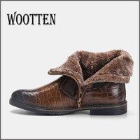 WOTEN Marke männer stiefel größe 40-45 leder männer winterstiefel handgefertigte warme stiefel für männer # kd5207c3 201126