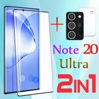 3D curvado filme de vidro temperado para Samsung Galaxy Nota 20 Ultra vidro protetor de tela protetor 5g s20ultra glas 3d armadura câmera lente flim