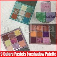 9 colori ombretto palette luccichio Matte pigmento di scintillio Mini Pastels Rose Mint lilla Make Up Palette Cosmetic 3 tipi