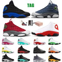 2021 com Caixa de Luxo Jumpman 13 Flint Mens Sapatos de Basquete 13s Hyper Real Lucky Verde Formadores Tamanho 13 Designer Sports Sneakers