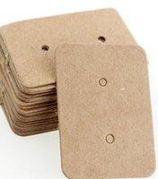 Tarjeta de Papel Papel Kraft Pantalones Pantalla Etiqueta Etiqueta Etiqueta Joyería Tarjeta de exhibición Kraft Rectángulo Pendiente Tarjetas de etiqueta25 * 35mm
