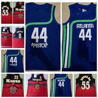 Mens pistolet Pete 44 Maravich Dikembe 55 Mutombo Steve 8 Smith Hardwoods Classics Basketball Jersey Sport 01