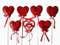 14 шт. День рождения тортов праздничные украшения вставьте карту красное сердце любви ряд флаг Валентина романтические и красивые творческие поставки украшения