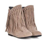 الدافئة LEOSOXS المرأة أحذية شتاء الشرابة أحذية الكاحل أزياء بالاضافة الى حجم 43 شقة أنثى الانزلاق على أحذية السيدات هامش أحذية عارضة