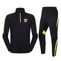 20-21 Athletic Bilbao Fútbol Club de fútbol para adultos Chándal de entrenamiento para niños Invierno Manga larga Sportwear Set de fútbol Deporte infantil