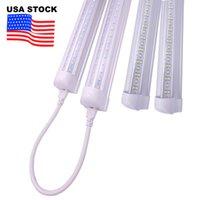 V 형 4ft 5ft 6ft 8ft 냉각기 도어 LED 튜브 T8 통합 LED 튜브 더블 워드 LED 조명 고정 장치 미국