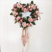 Guirlande Rose Guirlande avec élégante meilleure pour la porte murale et la décoration de fenêtre Décoration de la fleur de mariage 11