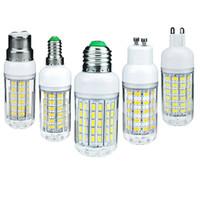 Светодиодные лампы кукурузы E27 E26 E12 E14 G9 GU10 B22 5730 SMD 50W эквивалентная яркая светлая лампа 48