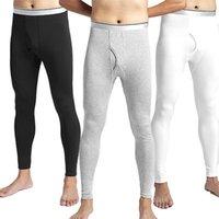الرجال الحرارية الملابس الداخلية زائد المخملية السراويل الحرارية الدافئة الخريف طويل جونز الرجال الحرارية الملابس طماق لينة رجل حراري للشتاء 1