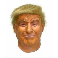 دونالد ترامب قناع العلوية أقنعة الدعائم مضحك مطاط الشهيرة المشاهير الملياردير تأثيري حفلة تنكرية زي ترامب قناع