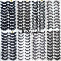 2020 Novos 10 pares 100% Real Fake Mink Eyelashes 3D Natural Eyelashes Falso Mink Lashes Soft Eyelash Extension Kit Kit Cilios 3D